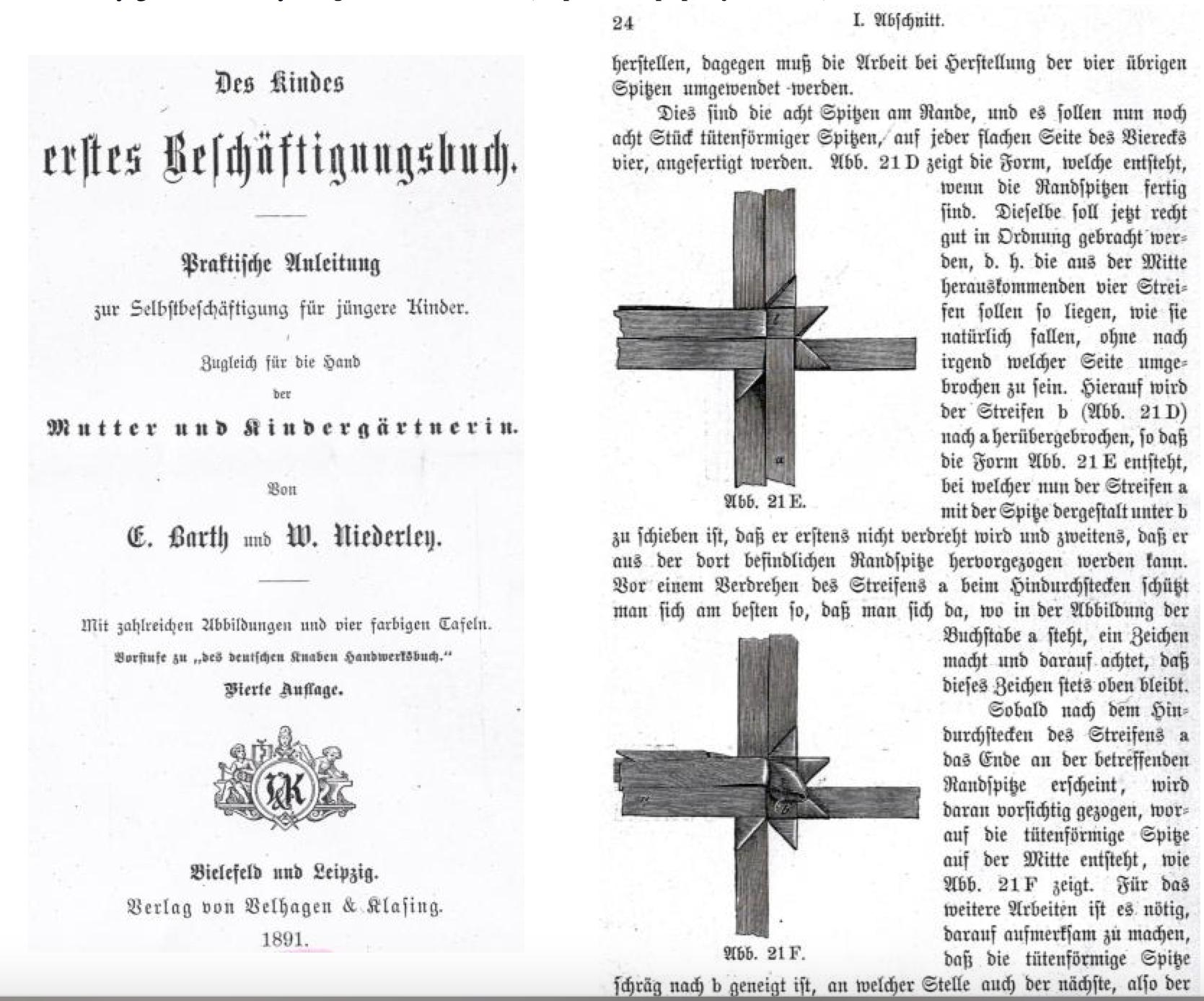 Julestjerne vejledning fra 1891