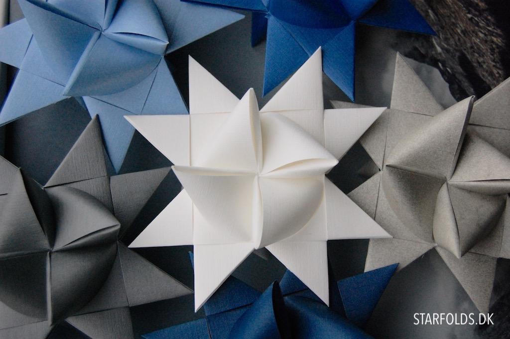 Skønne juleprojekter i papir - flettede julestjerner